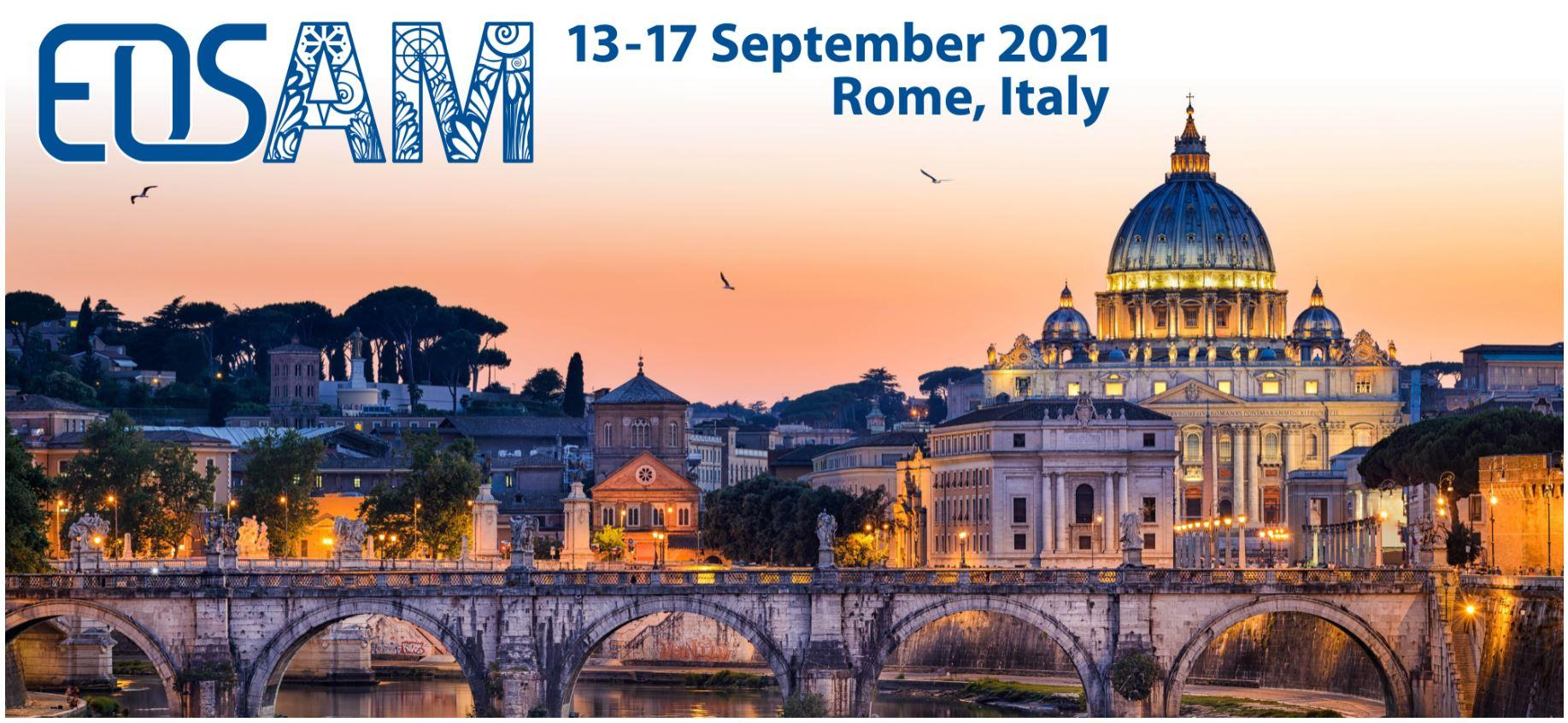 EOSAM held 13 - 17 September 2021, Submission open