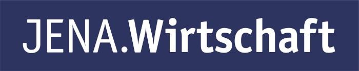 Jenawirtschaft logo label vignette blau druck