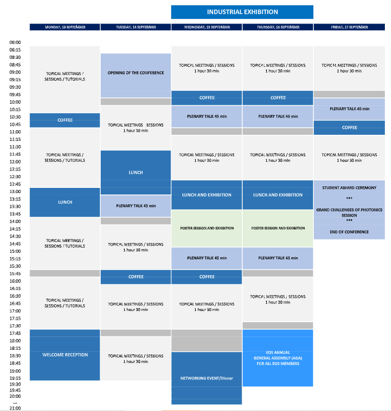 Schedule overview web3